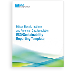 EEI and AGA ESG/Sustainability Reporting Template cover