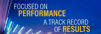 focused on performance a track record of results